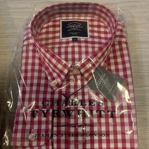 Charles Tyrwhitt Red Gingham Poplin Shirt
